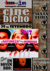cartaz cine bicho itabaiana NATUREZA